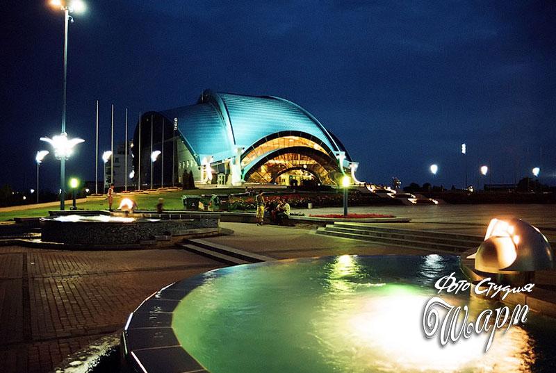город Южный - Площадь Победы ночью